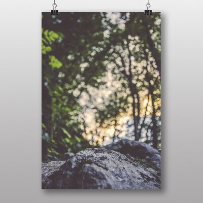 Big Box Art Rock in the Forest' Photographic Print