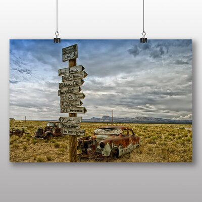 Big Box Art Route 66 Road Photographic Print on Canvas