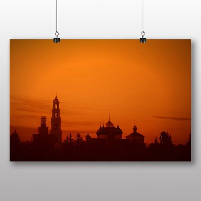 Big Box Art Sunset Dome Moscow Russia Photographic Print
