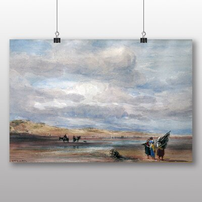 Big Box Art 'Shrimpers on Lancaster Sands' by Richard Bonington Art Print