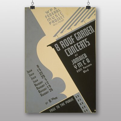 Big Box Art 8 Roof Garden Concerts Vintage Advertisement
