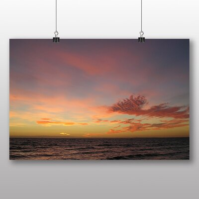 Big Box Art Sunset over Sea Photographic Print on Canvas