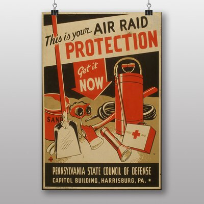 Big Box Art Air Raid Protection Vintage Advertisement