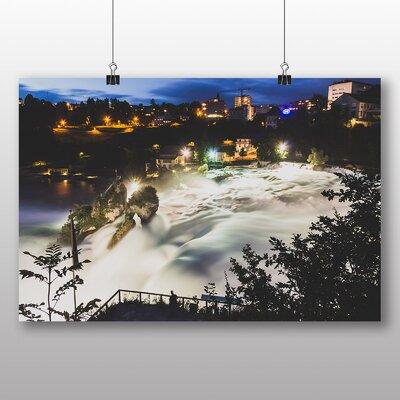 Big Box Art River at Night Photographic Print on Canvas