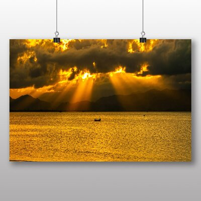 Big Box Art Sun Through the Clouds Photographic Print Wrapped on Canvas
