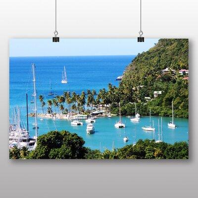 Big Box Art St Lucia Landscape No.3 Photographic Print Wrapped on Canvas