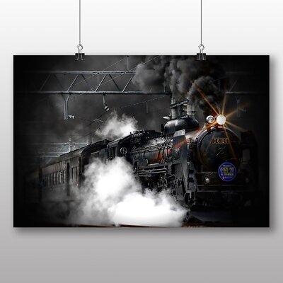 Big Box Art Vintage Steam Train No.4 Photographic Print on Canvas