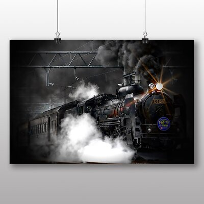 Big Box Art Vintage Steam Train No.4 Graphic Art