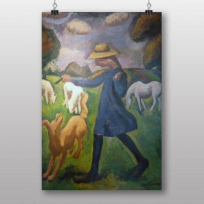 """Big Box Art """"The Shepherdess"""" by Roger de la Fresnaye Art Print"""
