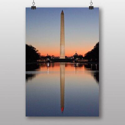 Big Box Art Sunrise Washington Monunment USA Photographic Print