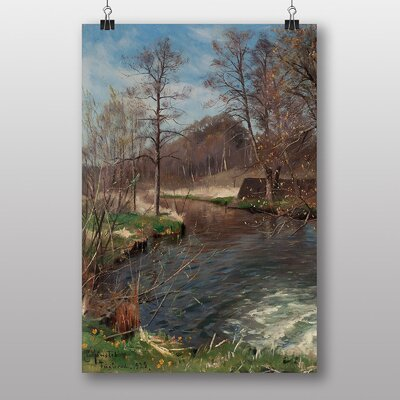 "Big Box Art ""River Landscape"" by Peder Mork Monstead Art Print"