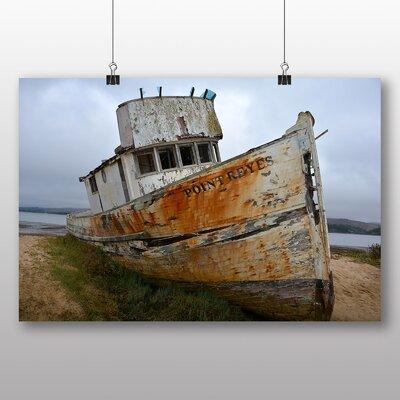 Big Box Art Ship Wreck on Beach No.2 Photographic Print