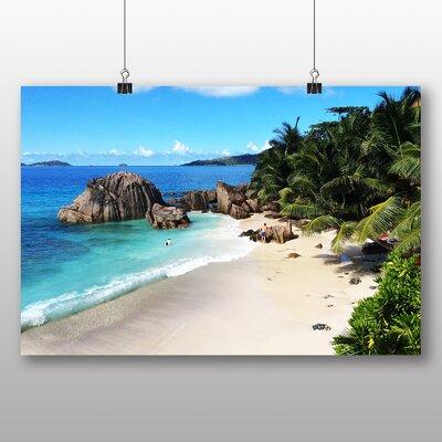 Big Box Art Seychelles Beach No.2 Photographic Print Wrapped on Canvas