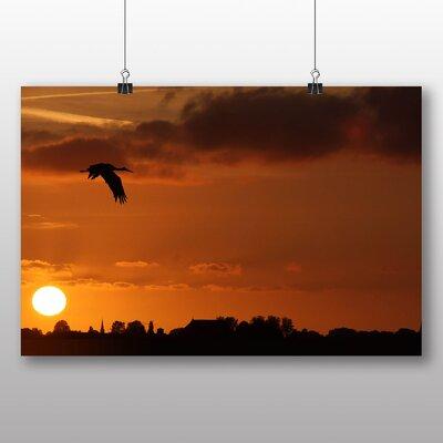 Big Box Art Stork Sunset Photographic Print