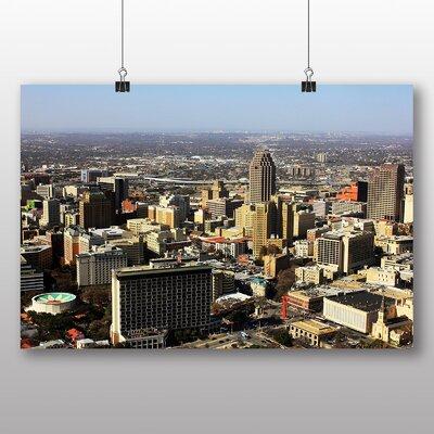 Big Box Art San Antonio Texas Skyline USA Photographic Print