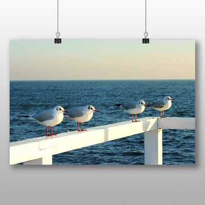 Big Box Art Seagulls No.2 Photographic Print Wrapped on Canvas