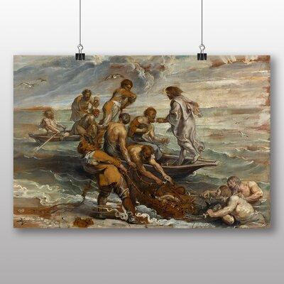 Big Box Art 'The Miraculous Fish Drought' by Peter Paul Rubens Art Print
