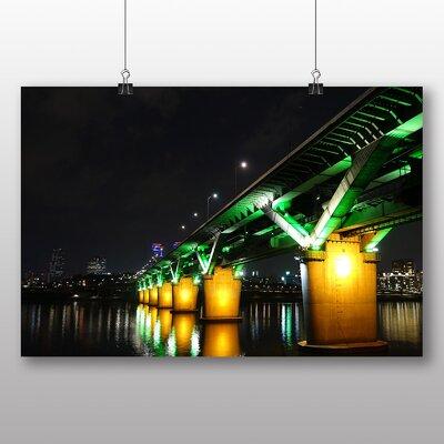 Big Box Art Seoul Han Bridge South Korea Photographic Print
