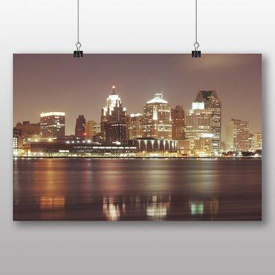Big Box Art 'Skyline City of Detroit' Photographic Print