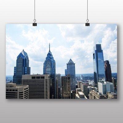 Big Box Art Philadelphia Pennsylvania Skyline USA Photographic Print Wrapped on Canvas