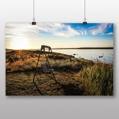 Big Box Art 'Swinging Seat by the Coast' Photographic Print