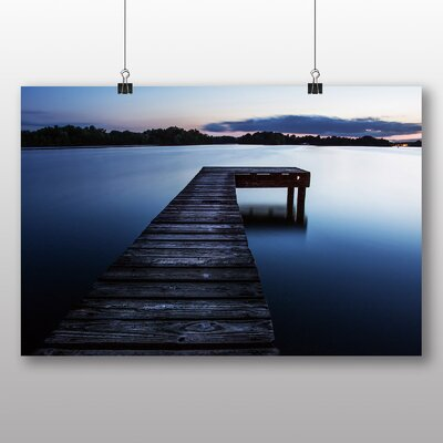 Big Box Art Pier Jetty Sea No.6 Photographic Print Wrapped on Canvas