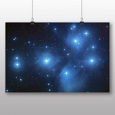 Big Box Art The Pleiades Star Cluster Space Graphic Art