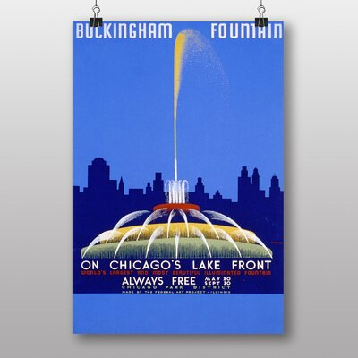 Big Box Art Buckingham Fountain Vintage Advertisement