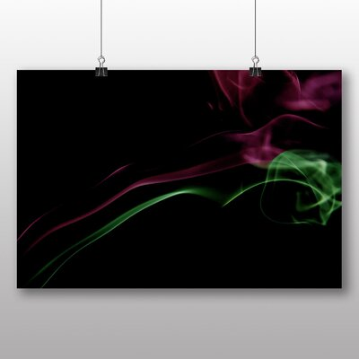 Big Box Art Smoke and Flames Abstract No.12 Graphic Art Wrapped on Canvas