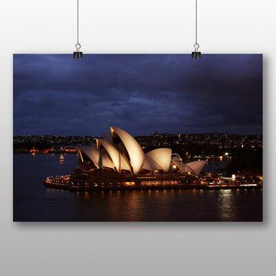 Big Box Art Sydney Opera House Harbour Australia No.16 Photographic Print Wrapped on Canvas
