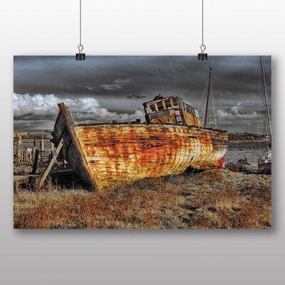 Big Box Art Ship Wreck on Beach No.3 Photographic Print