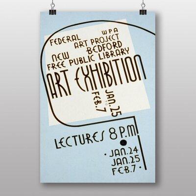 Big Box Art Exhibition No.5 Vintage Advertisement