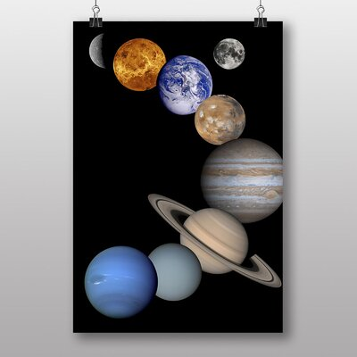 Big Box Art Solar System Planets Space Graphic Art