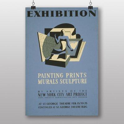 Big Box Art Exhibition No.40 Vintage Advertisement