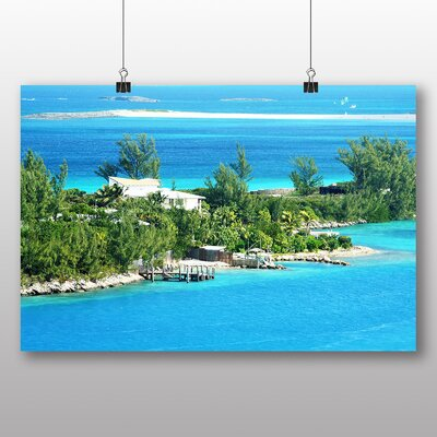 Big Box Art The Bahamas Beach No.2 Photographic Print Wrapped on Canvas