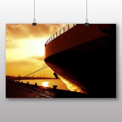 Big Box Art Sunset Behind The Boat Photographic Print