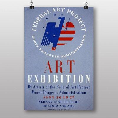 Big Box Art Exhibition No.38 Vintage Advertisement