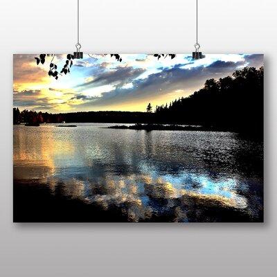 Big Box Art Sunset over Lake No.4 Photographic Print on Canvas