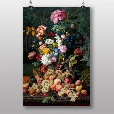 Big Box Art Still Life Flower Bouquet by Severin Roesen Art Print