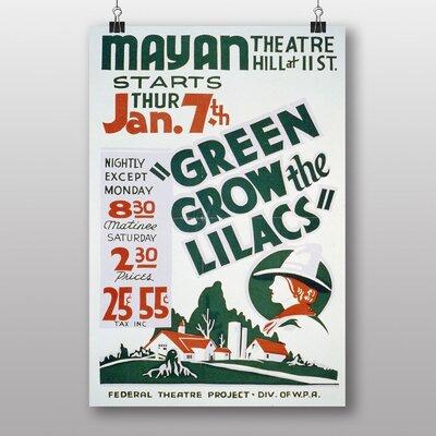 Big Box Art Green Groq The Lilacs Vintage Advertisement