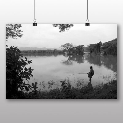 Big Box Art Sri LankaLlake Fisherman Photographic Print on Canvas
