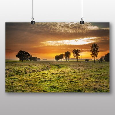 Big Box Art 'Sheep at Sunset' Photographic Print