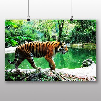 Big Box Art Tiger No.6 Photographic Print Wrapped on Canvas
