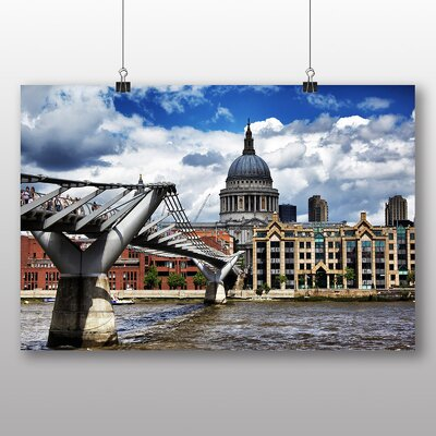 Big Box Art St Paus Cathedral London Photographic Print Wrapped on Canvas