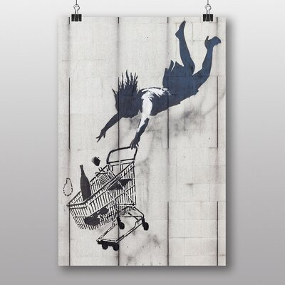Big Box Art Shop Until You Drop Banksy Graffiti Graphic Art Wrapped on Canvas