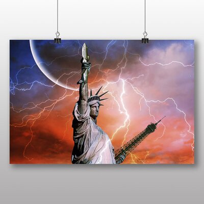 Big Box Art Statue of Liberty New York USA No.2 Graphic Art Wrapped on Canvas
