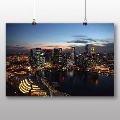 Big Box Art Singapore Skyline No.2 Photographic Print Wrapped on Canvas