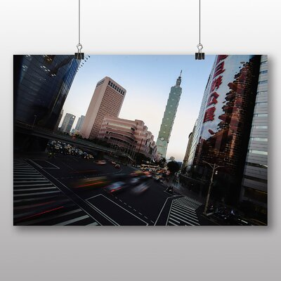 Big Box Art Taiwan Taipei Photographic Print Wrapped on Canvas