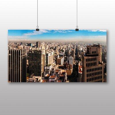 Big Box Art Skyline City Brazil Graphic Art Wrapped on Canvas
