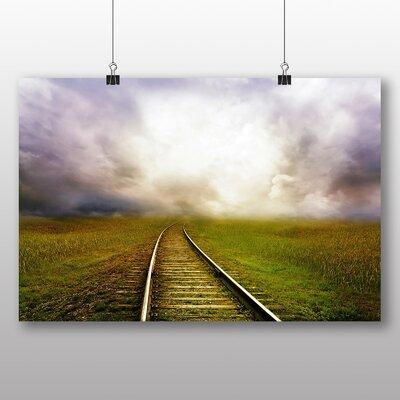 Big Box Art Train Tracks No.1 Photographic Print Wrapped on Canvas